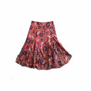 Lauren Ralph Lauren Full Printed Skirt